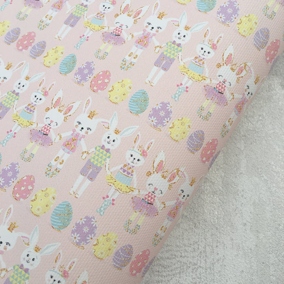 Bunny Boys and Girls Premium Printed Fabric - Cotton Weave - Rosie's Craft Shop Ltd