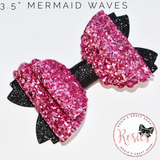 "Mermaid Waves Bow 3.5"" / 9cm - Die or Template - Rosie's Craft Shop Ltd"