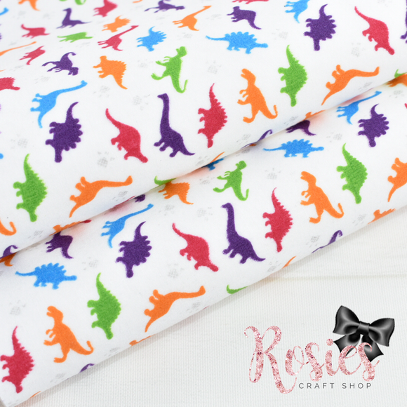 Multi Coloured Dinosaurs Fabric Felt