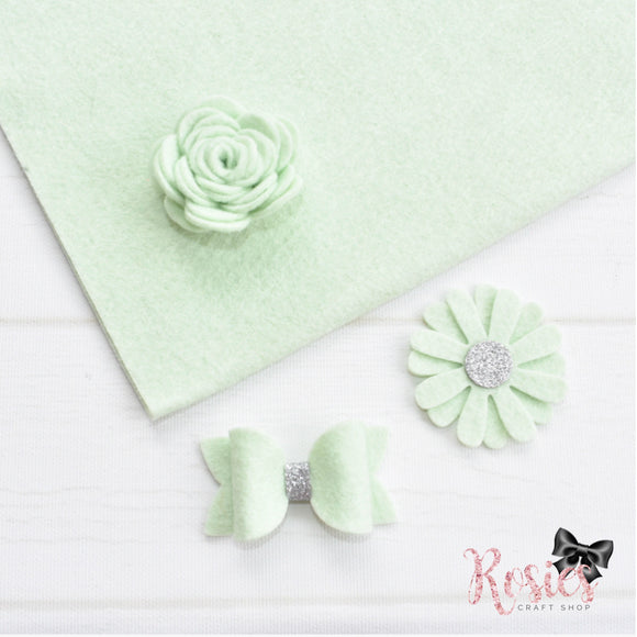 Hint Of Mint Wool Blend Felt - Rosie's Craft Shop Ltd