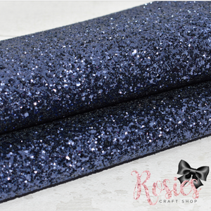 Indigo Blue Chunky Glitter Fabric - Luxury Core Collection