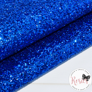 Royal Blue Chunky Glitter Fabric - Luxury Core Collection - Rosie's Craft Shop Ltd