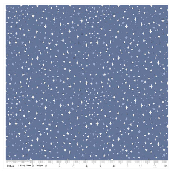 Neverland Pixie Dust in Blue By Riley Blake - 100% Cotton Fabric - Rosie's Craft Shop Ltd