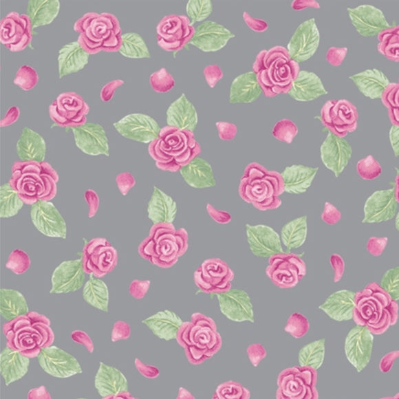 Mini Rose Grey - Tutus & Toe Shoes by Blank Quilting's - 100% Cotton Fabric - Rosie's Craft Shop Ltd