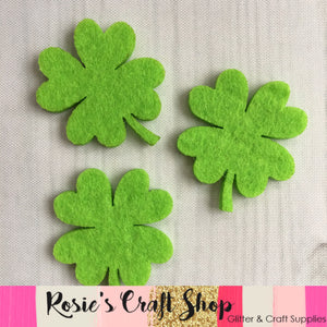Green Four Leaf Clover Embellishment - Rosie's Craft Shop Ltd