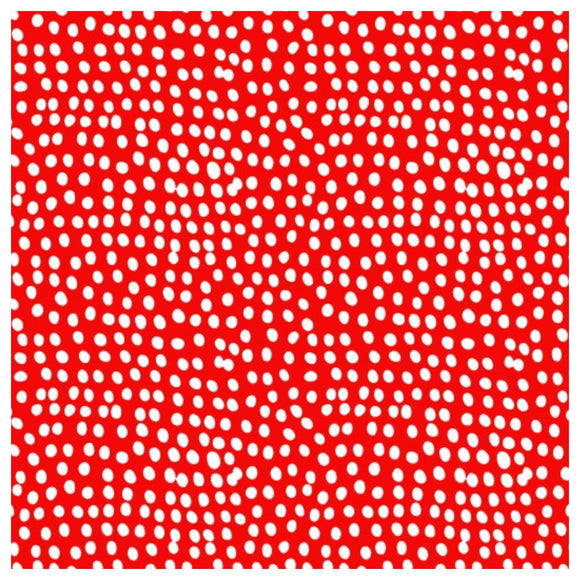 Poppy Red Spotty Fabric Felt - Flurry - Rosie's Craft Shop Ltd