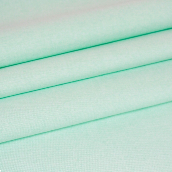 Mint Green Plain Chambray Cotton Fabric - Rosie's Craft Shop Ltd