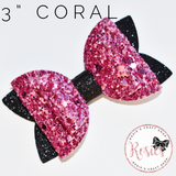 "Coral Bow 3"" / 7cm - Rosie's Craft Shop Ltd"
