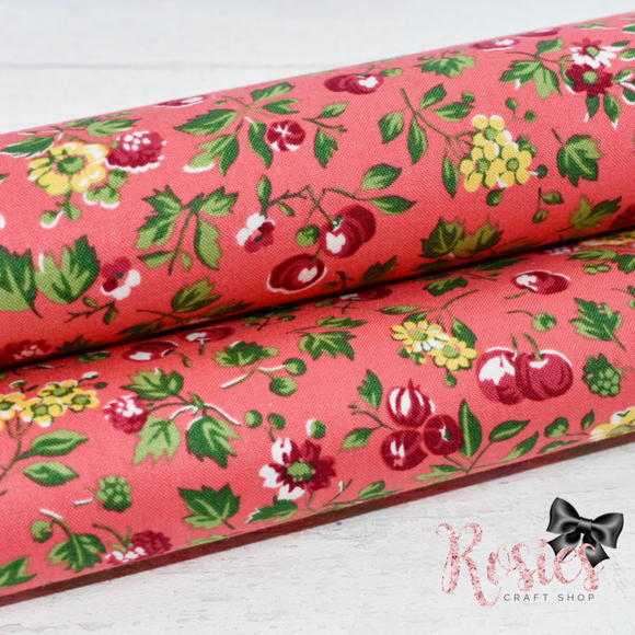 Wild Cherry in Red by Liberty - Fabric Felt