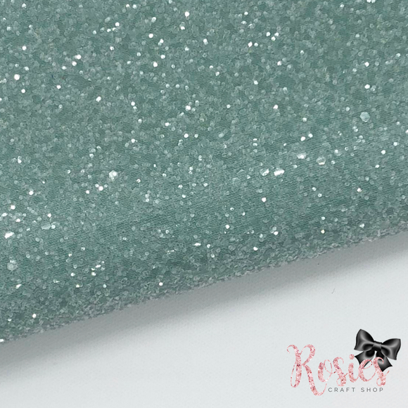 Mint Mojito Chunky Glitter Fabric - Sugar Frosted Collection