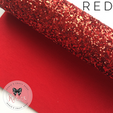 Red Luxury Chunky Glitter Fabric - Classic Collection - Rosie's Craft Shop Ltd