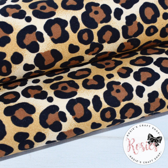 Maxi Leopard Print Fabric Felt - Rosie's Craft Shop Ltd