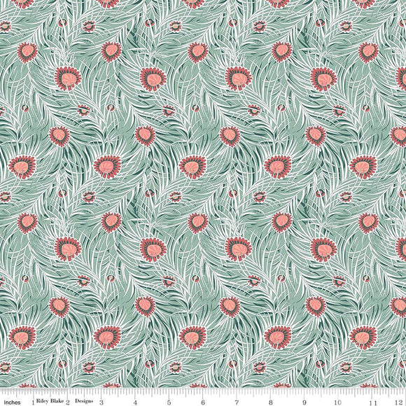 Pipers Peacock Coral - Liberty Hesketh House Collection
