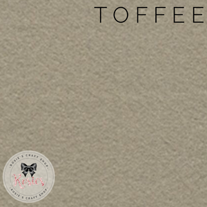 Toffee Wool Blend Felt - Rosie's Craft Shop Ltd
