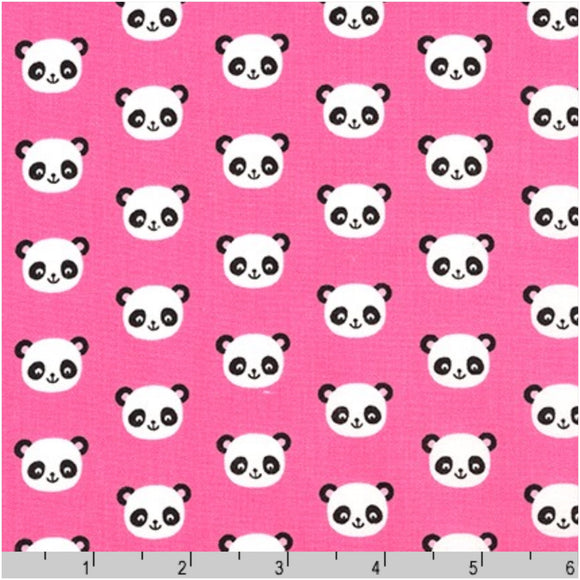 Pink Pandas Fabric Felt - Urban Zoologie - Rosie's Craft Shop Ltd