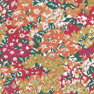 Wisely Grove in Red & Orange - Liberty - The Orchard Garden