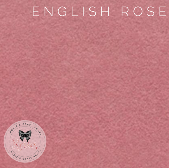 English Rose Wool Blend Felt - Rosie's Craft Shop Ltd