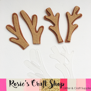 Christmas Antlers Plastic Templates - Rosie's Craft Shop Ltd