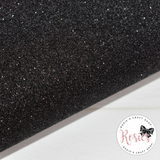 Black Glitter Iron On Vinyl HTV - Rosie's Craft Shop Ltd