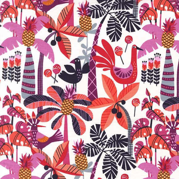 Tropical - Shake Your Tailfeather By Michael Miller - 100% Cotton Fabric - Rosie's Craft Shop Ltd