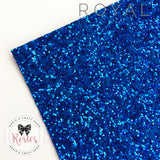 Royal Blue Luxury Chunky Glitter Fabric - Classic Collection - Rosie's Craft Shop Ltd
