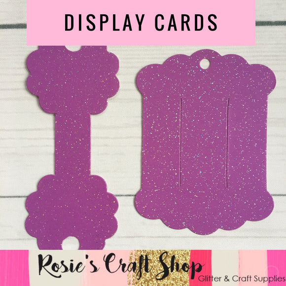 Bobble/Necklace & Hair Bow Display Card Plastic Template - Rosie's Craft Shop Ltd