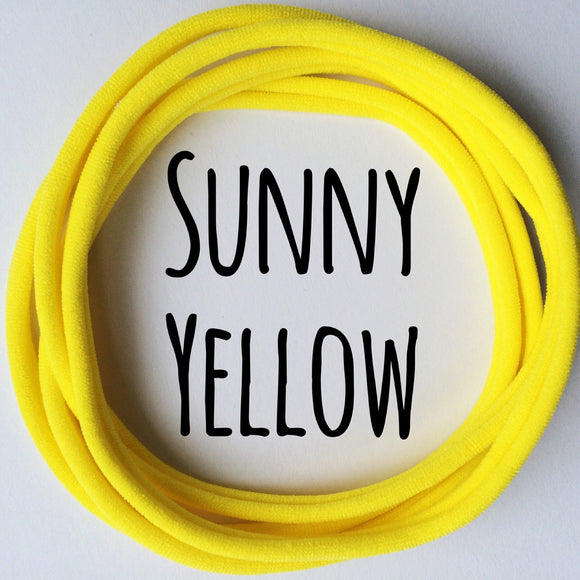 Sunny Yellow - Dainties by Nylon Headbands - Rosie's Craft Shop Ltd