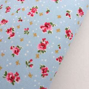 Blue Dainty Rose Fabric Felt - Rosie's Craft Shop Ltd