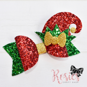 Christmas Elf Hat Bow Plastic Template