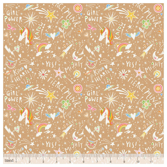 Unicorn Word Power Craft Designer Fabric Felt - Rosie's Craft Shop Ltd