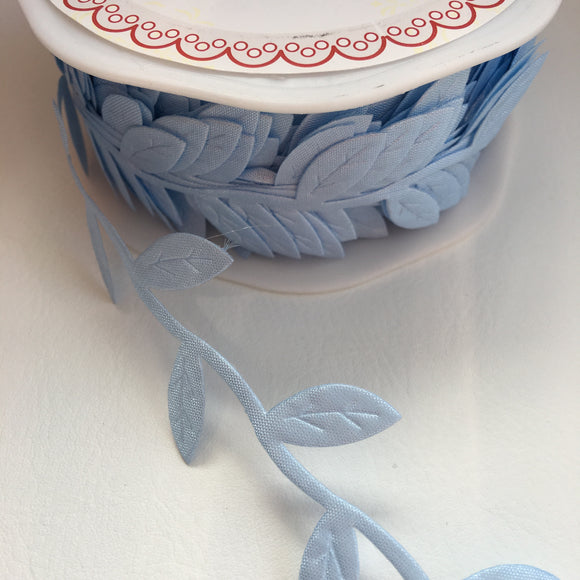 Sky Blue Leaf Trim 38mm - Rosie's Craft Shop Ltd