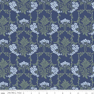 Nouveau Mayflower Blue - Liberty Hesketh House Collection