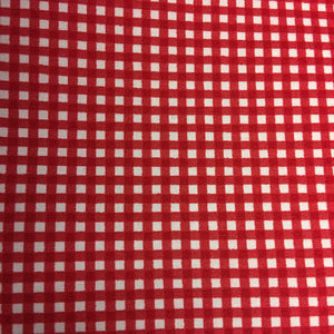 Red & White Gingham 100% Cotton Fabric - Rosie's Craft Shop Ltd