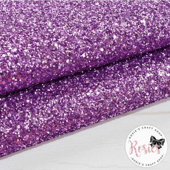 Lilac Chunky Glitter Fabric - Luxury Core Collection - Rosie's Craft Shop Ltd
