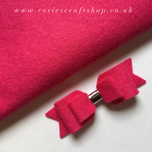 Fuchsia Wool Blend Felt - Rosie's Craft Shop Ltd