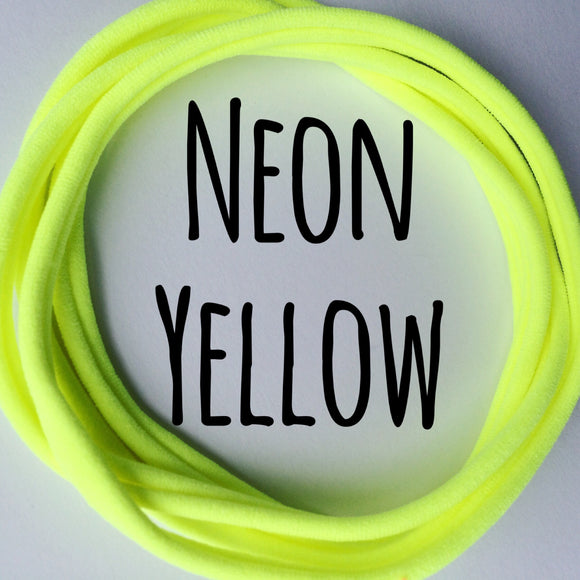 Neon Yellow - Dainties by Nylon Headbands - Rosie's Craft Shop Ltd