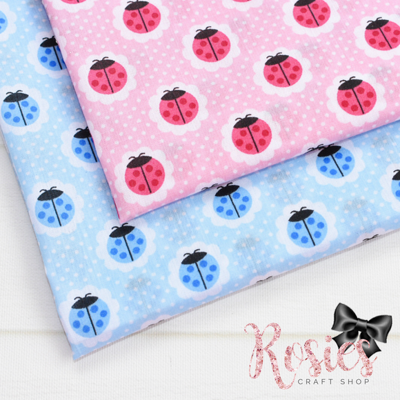 Spotty Dotty Ladybird Polycotton Fabric