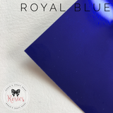 Royal Blue Metallic Iron On Vinyl HTV - Rosie's Craft Shop Ltd