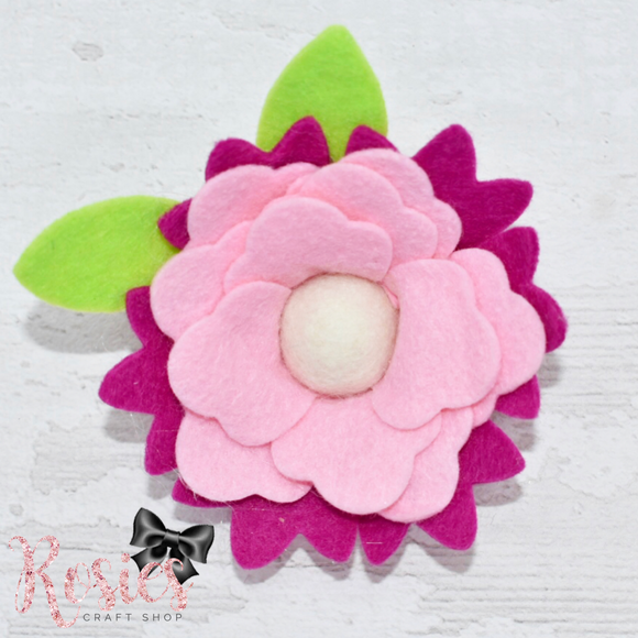 Layered Flower Plastic Template