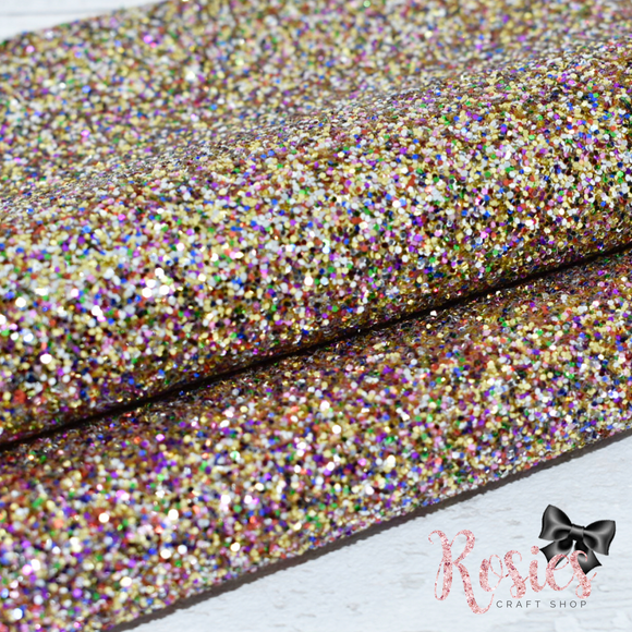Carnival Chunky Glitter Fabric - Luxury Core Collection