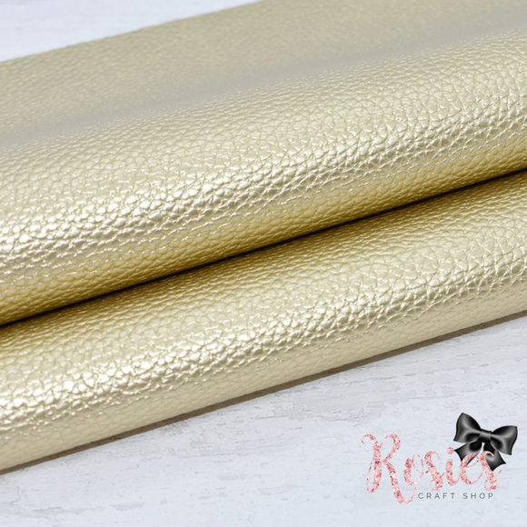 Gold Pearl Leatherette Faux Leather Fabric