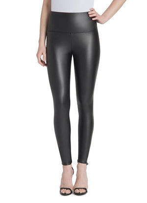 Black Vegan Leather Leggings - Lysse - My Legwear Shop