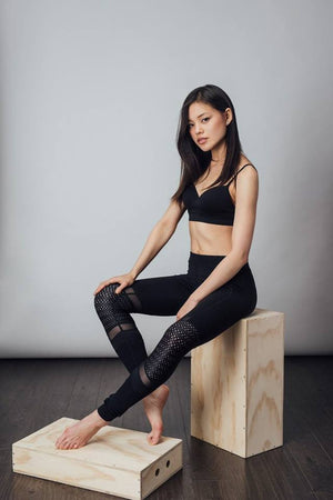 Stand Strong Mesh Knee Leggings - Tonic Lifestyle Apparel - My Legwear Shop