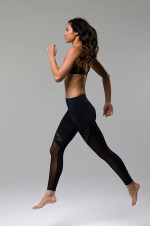 Chrome Legging Moto with Mesh Panels - Onzie Flow - My Legwear Shop