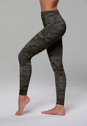 High Rise Legging - Moss Camo - Onzie Flow - My Legwear Shop