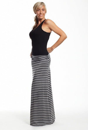 Lucy Long Bamboo Skirt - Slymwear (Available in Black) - My Legwear Shop