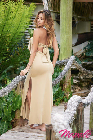 Convertible Strapless Glamour Beach Cover Up Dress  - Mapale Resort & Swim - My Legwear Shop