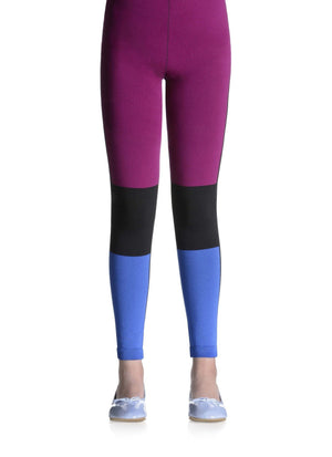 Doris Printed Color Fusion Nylon Footless Tights for Girls - Sarah Borghi - My Legwear Shop