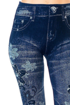 Floral Print Jeggings - Always - My Legwear Shop