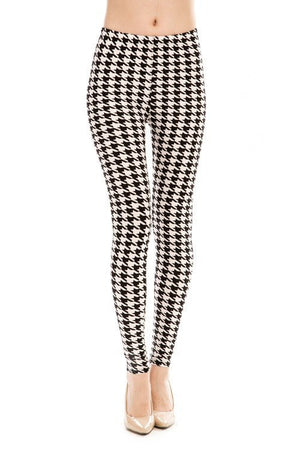 Houndstooth Print Legging - My Legwear Shop